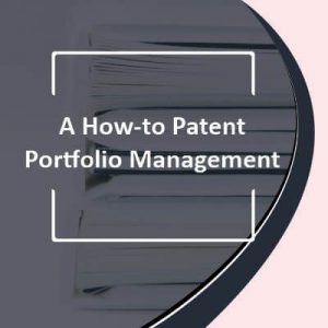A How-to Patent Portfolio Management